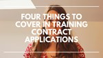 Four things to cover in your TRAINING CONTRACT application